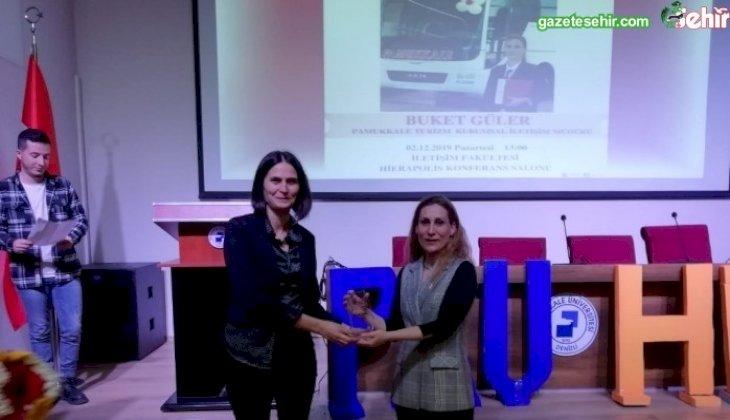 PAÜ İletişim Fakültesi Öğrencileri, Pamukkale Turizm Kurumsal İletişim Müdürü Buket Güler ile Buluştu