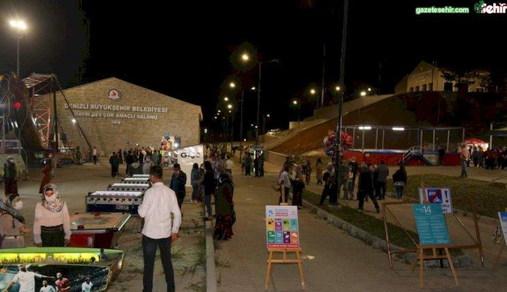 ÇAMELİ'DE LUNAPARK HİZMETE GİRDİ