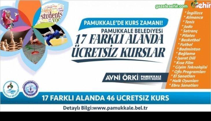 Pamukkale Belediyesi'nce 17 farklı alanda 46 ücretsiz kurs düzenleniyor