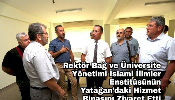 Rektör Bağ ve Üniversite Yönetimi İslami İlimler Enstitüsünün Yatağan'daki Hizmet Binasını Ziyaret Etti