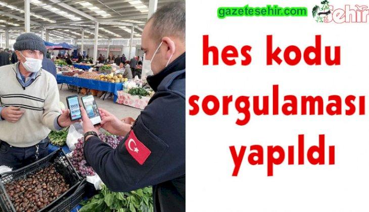 Sarayköy'de pazar esnafına HES kodu denetimi yapıldı
