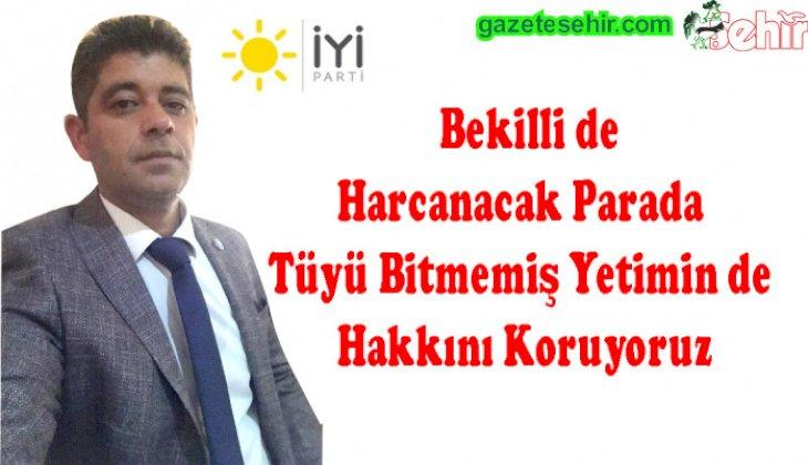İYİ Parti Bekilli Meclis Üyesi Gökhan Güleçyüz'ün Açıklaması