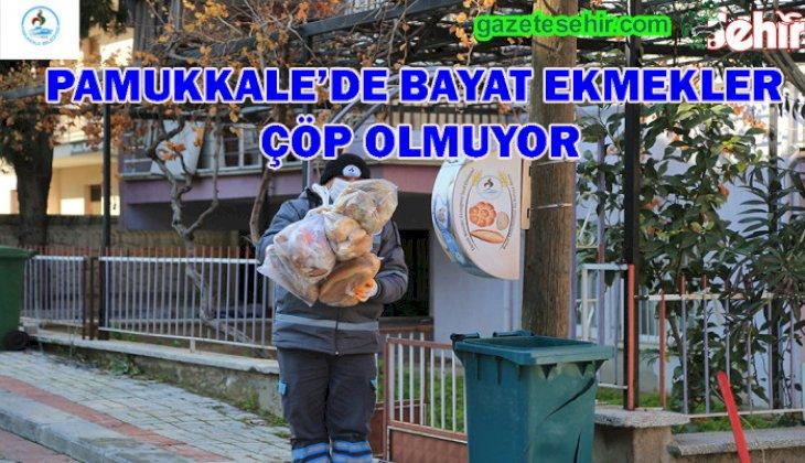 PAMUKKALE'DE BAYAT EKMEKLER ÇÖP OLMUYOR