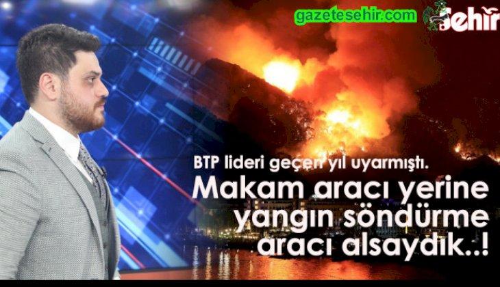 Makam Aracı Yerine Yangın Söndürme Aracı Alsaydık..!