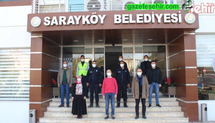 Sarayköy Belediyesi sokağa çıkma kısıtlamasında görev başında
