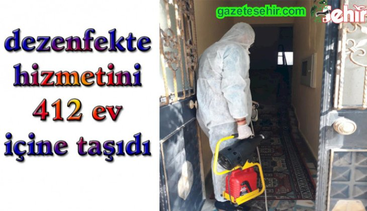 Sarayköy Belediyesi, dezenfekte hizmetini 412 ev içine taşıdı