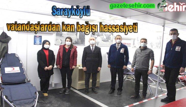 Sarayköy'de üç günde 194 ünite kan bağışı